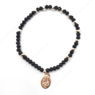 Bracciale rosario in argento e cristallo